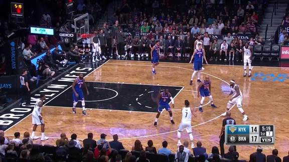 Highlights: The Nets (10-0 run) vs. Knicks