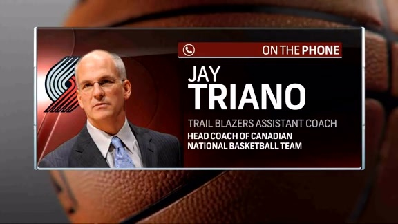 Trail Blazers Assistant Coach Jay Triano Talks Preseason
