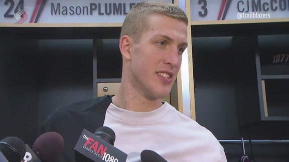 Plumlee: 'We Were Better, But Not Good Enough
