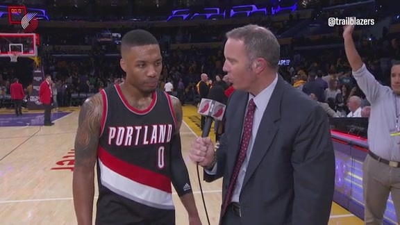 Lillard on Big Night vs. Lakers: