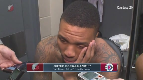 Lillard: 'I Just Felt Dead, No Energy'