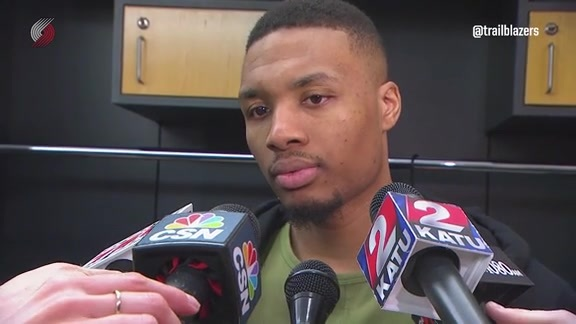 Lillard: 'We Can't Act Like We Made the Playoffs'