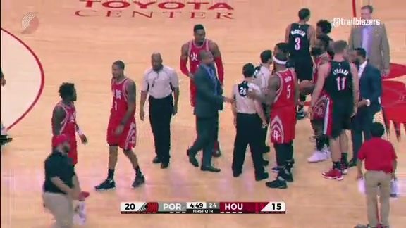 Lillard and Beverley Scuffle in Houston