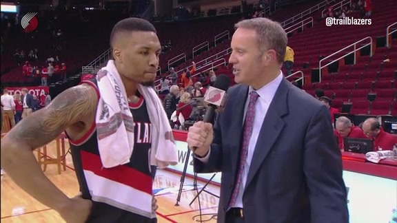 Lillard Talks Third-Straight Double-Double, Win at Houston