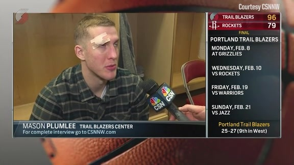 Plumlee on Elbow to Eye: 'It Wasn't Intentional'