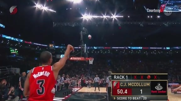 Video: CJ McCollum Competes in Foot Locker Three-Point Contest