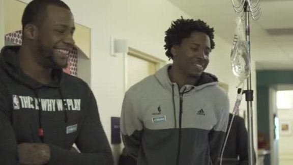 Video: Trail Blazers Visit Patients at Doernbecher Children's Hospital