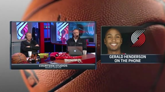 Henderson Talks First Season in Portland, Chemistry and More on Courtside