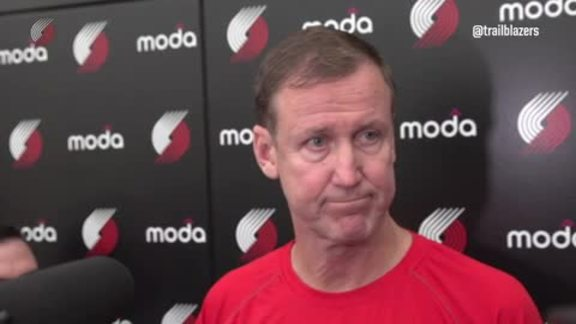 Terry Stotts Previews First Round Series with LA Clippers