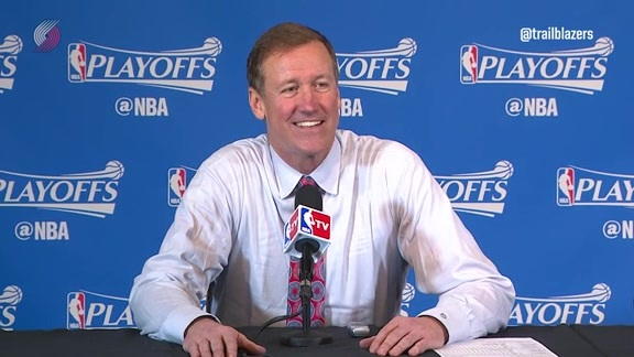 Head Coach Terry Stotts Takes the Podium After Game Six
