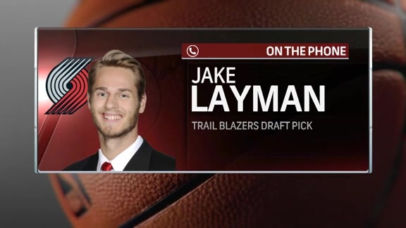 Blazers Rookie Jake Layman Joins Courtside