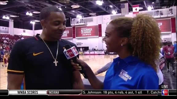 Video: CJ McCollum Interviewed During Halftime of Summer League Game