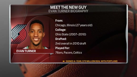 Courtside Welcomes New Blazer Evan Turner