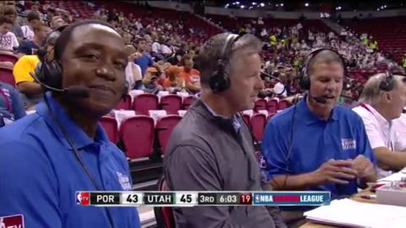 Video: Neil Olshey Joins NBA-TV During Summer League Game