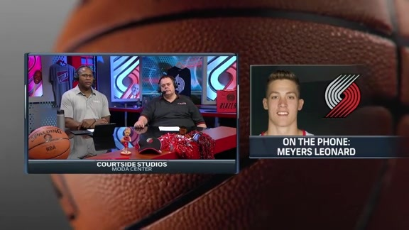 Meyers Leonard Joins Courtside Over the Phone