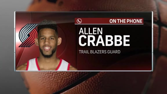 Allen Crabbe Joins Courtside for the Final Show of Summer