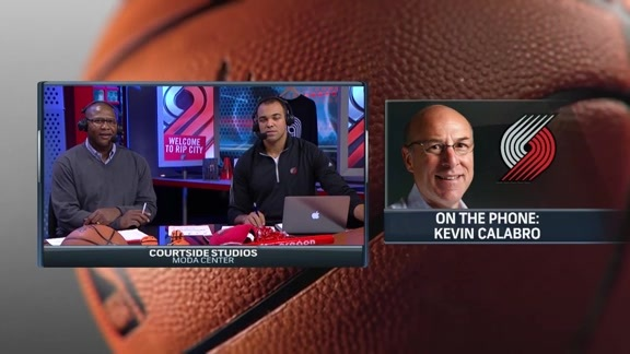 Blazers Play-by-Play Voice Kevin Calabro Calls-In to Courtside