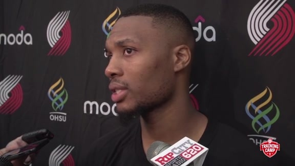 Lillard Talks Backcourt Chemistry with Turner