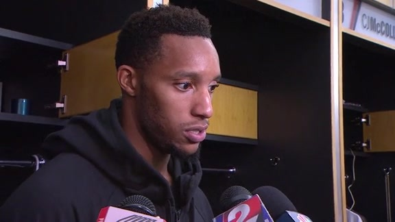 Evan Turner Does First Post-Game Media in Portland