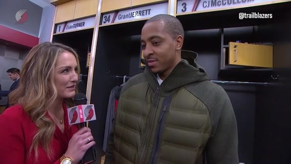 McCollum Dishes on Vonleh's Big Night