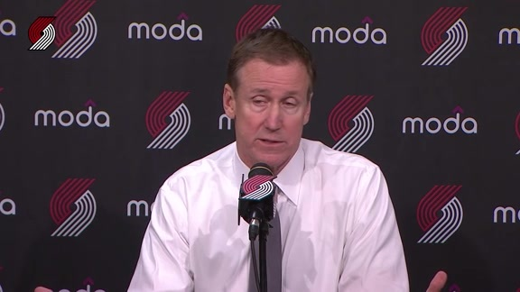 Coach Terry Stotts Reflects On Preseason Loss To Phoenix
