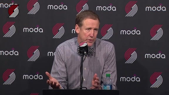 Stotts Lauds Portland's Big Three After Win Over OKC