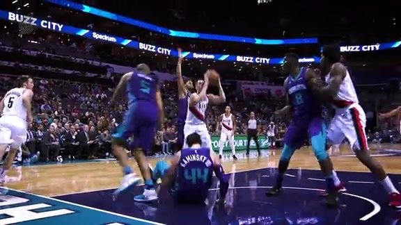 Highlights: Portland 93, Charlotte 91