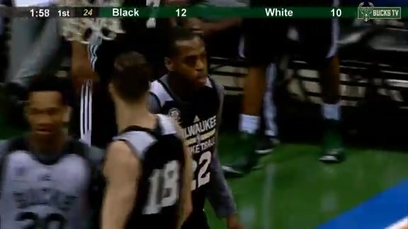 Khris Money Middleton with the And One Bucket
