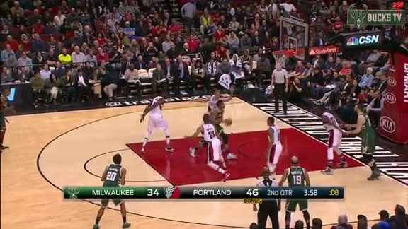 Giannis Gets Slapped But Scores