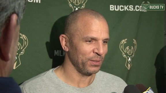 Coach Kidd Before Bucks Host Pacers