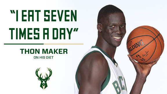 Thon Maker Talks Food