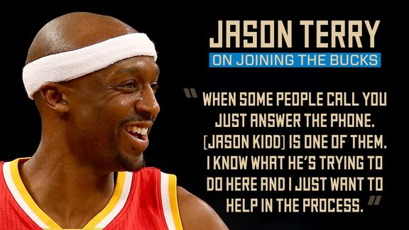 Jason Terry On Joining the Bucks