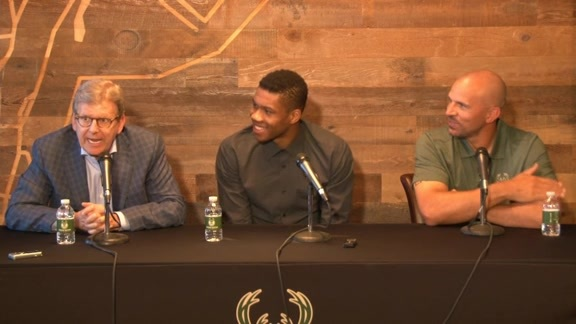 Giannis Antetokounmpo Contract Extension Press Conference