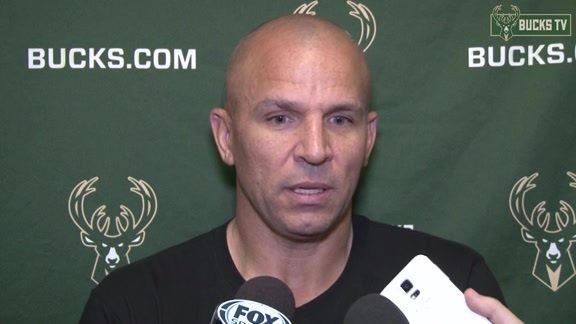 Coach Kidd Before Bucks Tip-Off Season