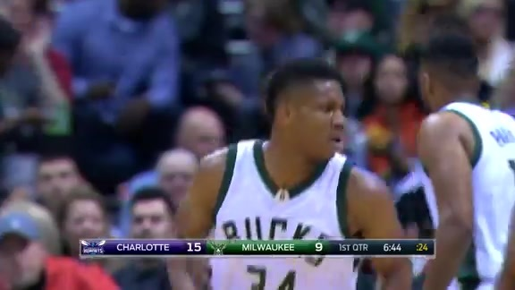 Delly Goes Long to Giannis