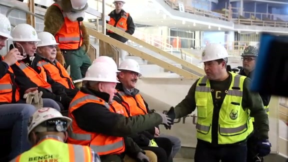 First Seats Installed Inside New Bucks Arena At The Milwaukee Tool Construction Site