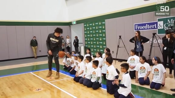 D.J. Wilson Assists Youth Education With NBA Math Hoops