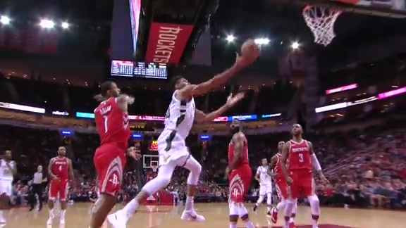 Highlights: Giannis Antetokounmpo 28 points vs. Rockets | 12.16.17