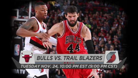 BullsTV Preview: Bulls vs. Trail Blazers - 11.24.15