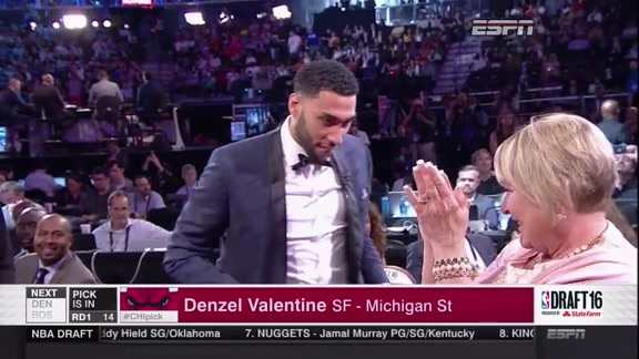 Bulls Select Denzel Valentine in the 2016 NBA Draft