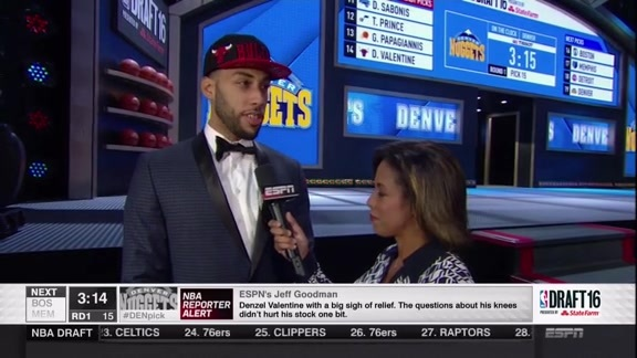 Denzel Valentine Draft Interview