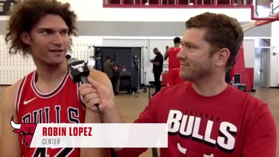 Bulls Media Day with Robin Lopez