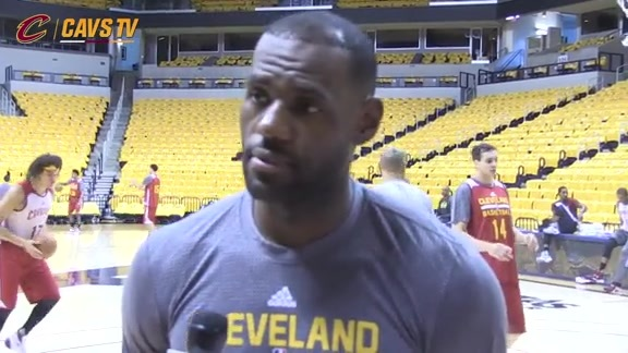 Shootaround: LeBron James - October 7, 2015