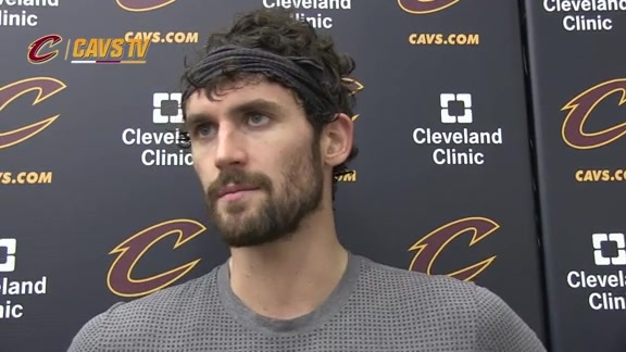 Practice: Kevin Love - October 10, 2015