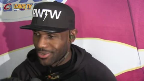Postgame: LeBron James - October 12, 2015