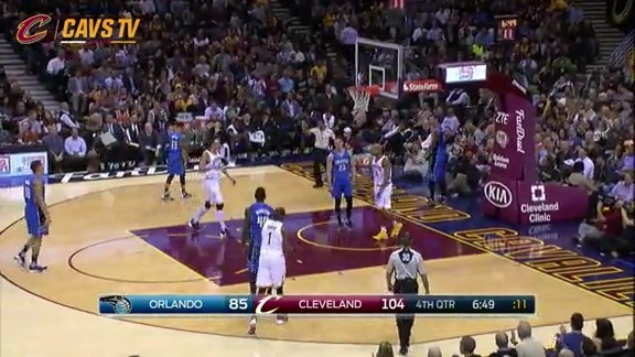 LBJ No Look Dish to RJ - November 23, 2015