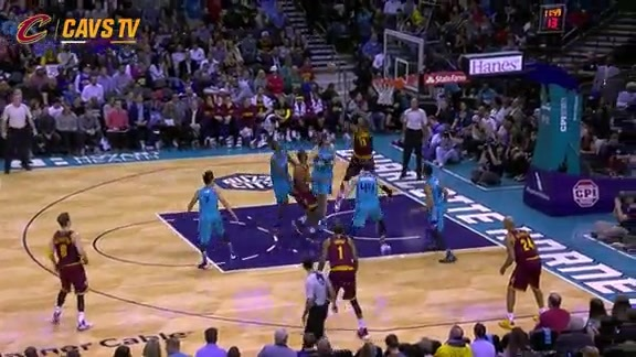LeBron Goes Up Top To Tristan - November 27, 2015