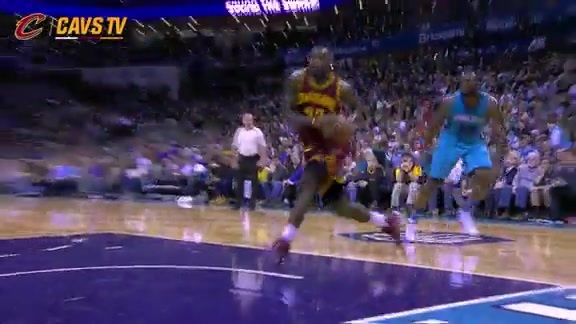 LeBron Strong with the And-One Flush - November 27, 2015