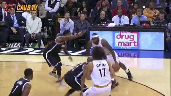 LeBron with the Acrobatic And-One - November 28, 2015