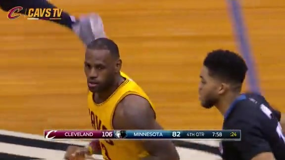 Cavs Go on 10-0 Run to Put the Game Away - January 8, 2016